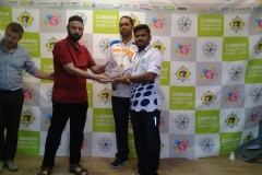 Secretary General PCF Mr Murtaza K Zulfee at 5th Carrom World Cup Prize Distribution Event with President International Carrom Federation Josef Meyer and others (2)