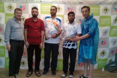 Secretary General PCF Mr Murtaza K Zulfee at 5th Carrom World Cup Prize Distribution Event with President International Carrom Federation Josef Meyer and others (6)