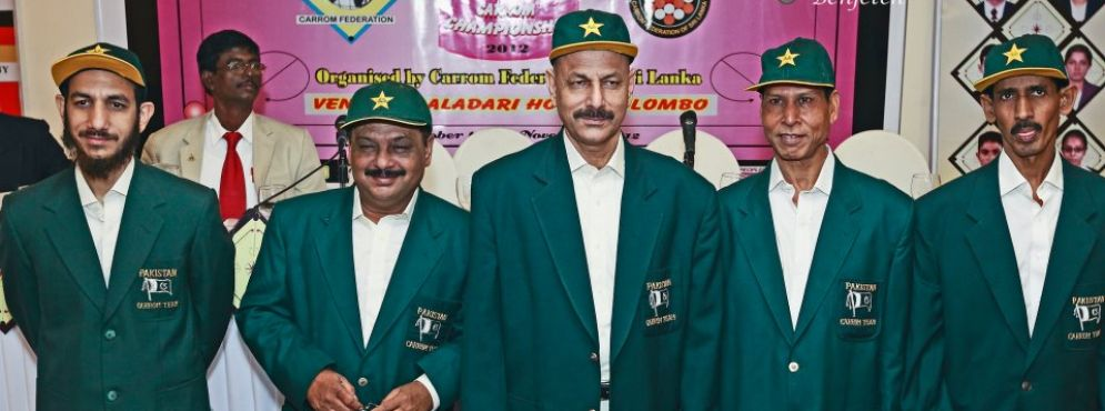 Pakistan Carrom Contingent during 6th World Carrom Championship held in Colombo, Srilanka